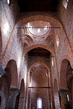 Interior, Church of Santi Pietro e Paolo d'Agrò, Agrò river valley, Casalvecchio Siculo, Messina, Sicily, Italy, Europe