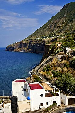 Scalo Galera Village, Salina Island, Messina, Sicily, Italy, Europe