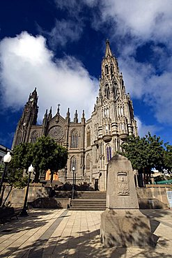 The neo-Gothic Parish Church of San Juan Bautista in Arucas, Northern Gran Canaria, Canary Islands, Spain, Europe