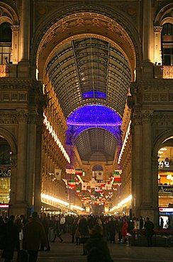 Vittorio Emanuele II gallery, Milan, Lombardy, Italy, Europe
