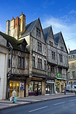Half-timbered house, Dijon, Bourgogne, France, Europe