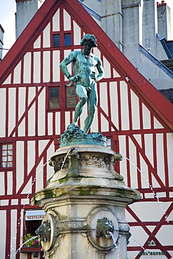 Statue in Place Francois Rude, Dijon, Burgundy, France, Europe