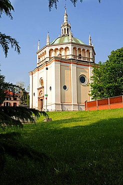 Church of the village, 19th century Workers' Village, Crespi d'Adda, UNESCO World Heritage Site, Lombardy, Italy
