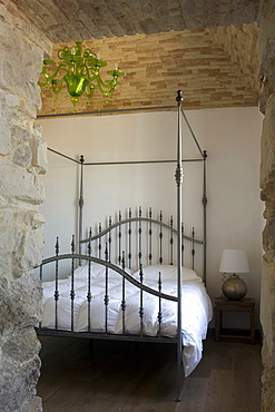 Single bedroom, Interior, Bed & Breakfast, Capo Spartivento light house, Sardinia, Italy, Europe