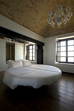 Main bedroom, Interior, Bed & Breakfast, Capo Spartivento light house, Sardinia, Italy, Europe