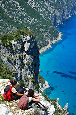 Punta Plummare cape, Cala Sisine bay, Ogliastra, Sardinia, Italy, Europe