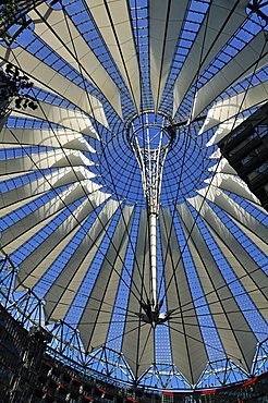Roof of the Sony Center, Potsdam Square, Berlin, Germany, Europe