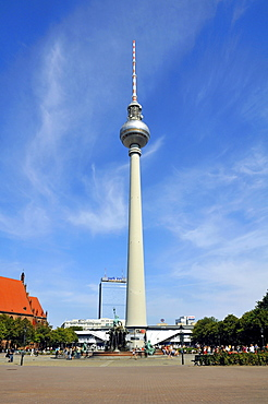 Fernsehturm television tower, Alexanderplatz, Berlin-Mitte Quarter, Berlin, Germany, Europe