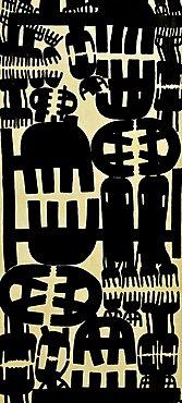 Superficie N¬8 67, Giuseppe Capogrossi, Musee National d'Art Moderne, Centre Georges Pompidou, Beaubourg, Paris, Ile-de-France, France, Europe
