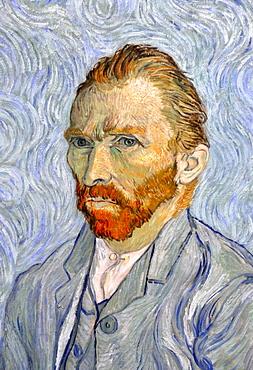 Self-portrait, Vincent Van Gogh, Musee d'Orsay, Paris, Ile-de-France, France, Europe