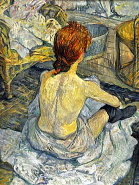 La Toilette, Henri de Toulouse-Lautrec, Musee d'Orsay, Paris, Ile-de-France, France, Europe
