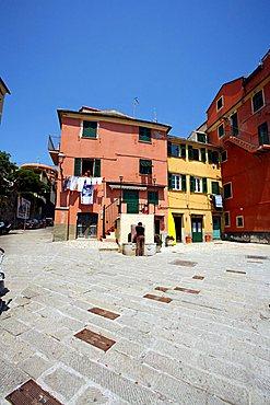 Square, Boccadasse, Genoa, Ligury, Europe