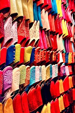 Shoes shop, Medina, Marrakech, Morocco Medina, Marrakech, Morocco, North Africa