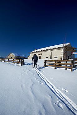 Cornafessa hut, Sega di Ala, Lessinia, Trentino Alto Adige, Italy