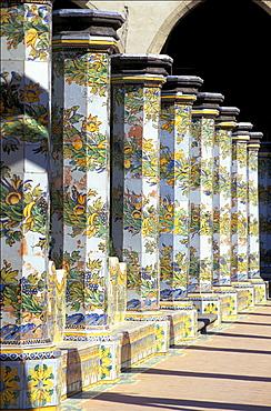 Santa Chiara's cloister, Naples, Campania, Italy