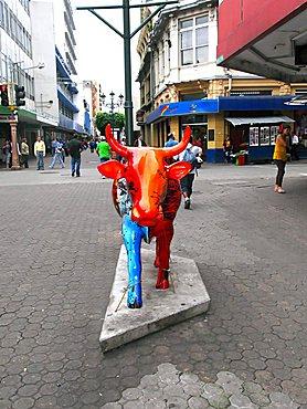 Cow Art, center of city, San Jose, Republic of Costa Rica, Central America