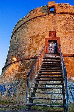 Tower of Isola Rossa, Bosa, Oristano, Sardinia, Italy, Europe