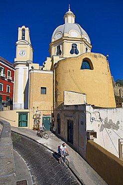 Santa Maria delle Grazie church, Procida island, Campania, Italy, Europe