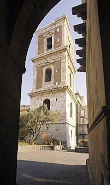 Belltower, Santa Chiara, Neaples, Campania, Italy, Europe