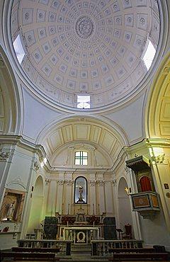 Interior, San Sebastiano church, Forio d'Ischia, Ischia island, Campania, Italy, Europe