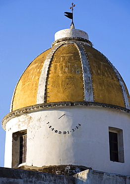 San Gaetano church dome, Forio d'Ischia, Ischia island, Campania, Italy, Europe