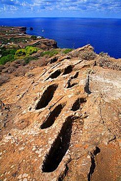 Necropolis,  Ustica, Ustica island, Sicily, Italy