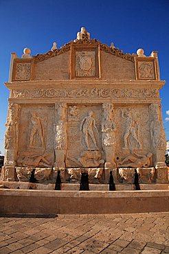 Old Greek fountain, Gallipoli, Apulia, Italy, Europe