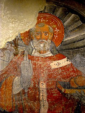 Cathedral, fresco detail, Otranto, Salento, Apulia, Italy, Europe