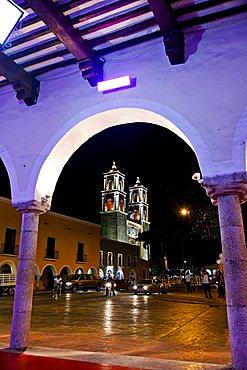 San Bernardino cathedral, Valladolid, Merida, Yucatan, Mexico, America
