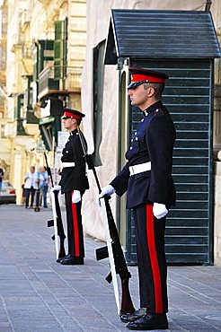 Guards at Grand Masters palace, Valletta, Malta, Europe