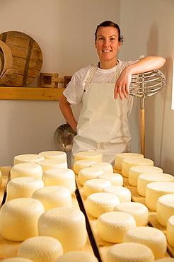 Anna Pecoraro, Tomaselli dairy, Strigno, Valsugana, Trentino Alto Adige, Italy, Europe