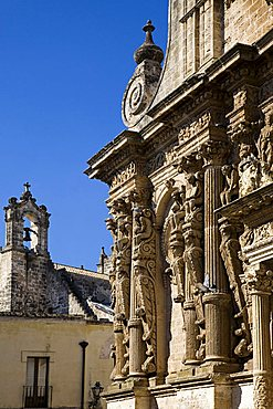 Baroque caryatids, church of San Domenico, Nard'Äó, Salento, Apulia, Italy