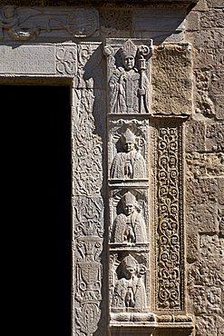 Basrelief, Cathedral, Otranto, Salento, Apulia, Italy