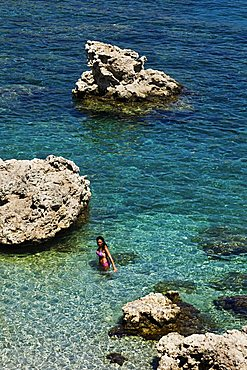 Ladiko or Anthony Quinn Bay, Rhodes, Dodecanese, Greek Islands, Greece, Europe