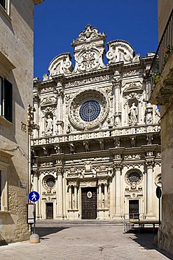 Chiesa di Santa Croce church, lecce, Apulia, Italy, Europe