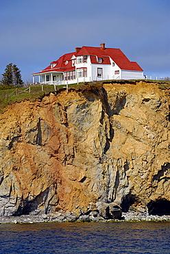 House on the rock, Perce, Gaspe peninsula, Quebec, Canada, North America