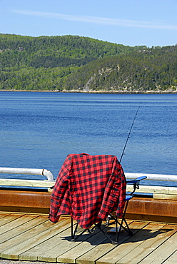 Fishing on the fiord, River, Saguenay National Park, Cv¥te-Nord, Quebec, Canada, North America