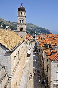 Stradun main street, Grad old town, Dubrovnik, Dalmatia, Croatia, Europe