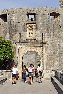 Ploce gate, Grad old town, Dubrovnik, Dalmatia, Croatia, Europe