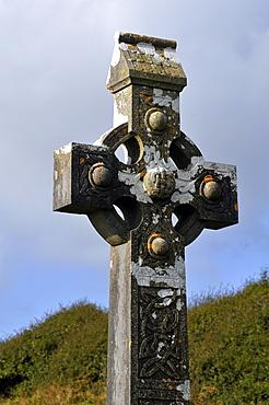 Celtic cross, Burren, County Down, Northern Ireland, Republic of Ireland, Europe