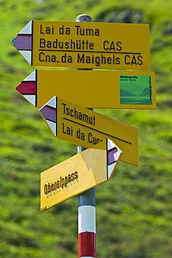 paths signals, oberalppass, switzerland
