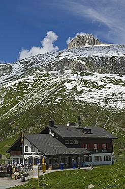 piz calmut mountain refuge, oberalppass, switzerland