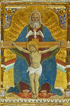 polyptych made by marinoni in the trinita' church, casnigo, italy