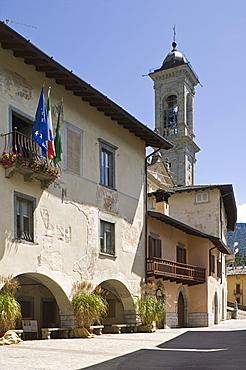 historical centre, vilminore di scalve, italy