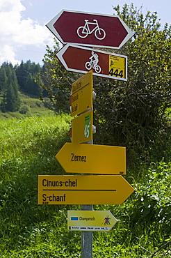 mountain signals, zernez, switzerland