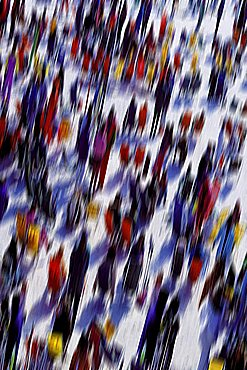 Skiers, Sestriere, Piedmont, Italy
