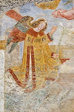chiesa dell'annunciata: fresco, cerete basso, italy