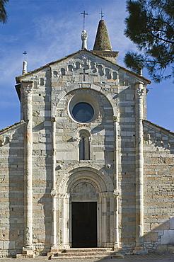 sant'andrea church at maderno village, toscolano maderno, italy