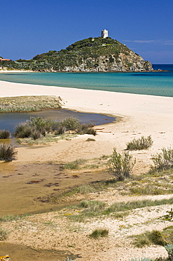 Sa Colonia beach, Chia, Domus de Maria, Cagliari district, Sardinia, Italy, Europe