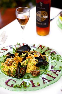 A Galaia  Restaurant, Carloforte, St Pietro Island, Sulcis, Iglesiente, Carbonia Iglesias, Sardinia, Italy, Europe